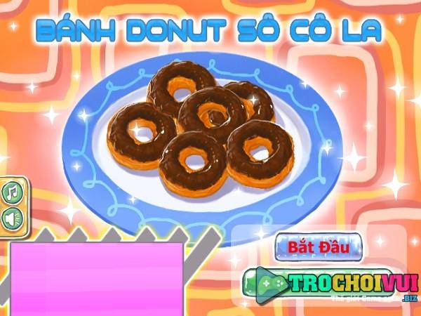 game Banh donut socola y8