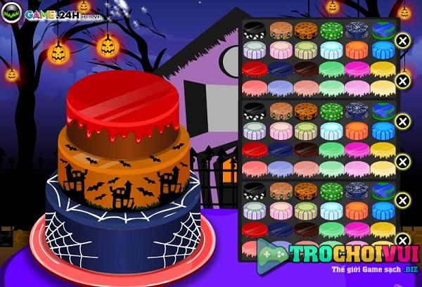 game Banh kem halloween