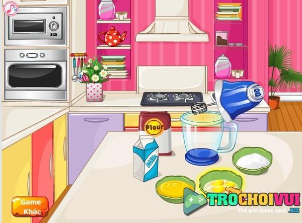game Banh kem hinh non hong 24h