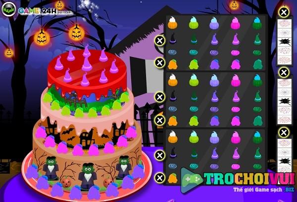 game Lam banh kem halloween