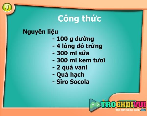 Game Lam kem ly socola