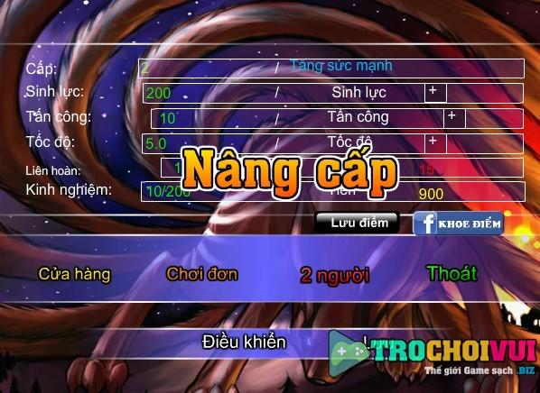 game Sieu hung dai chien sao anime 2