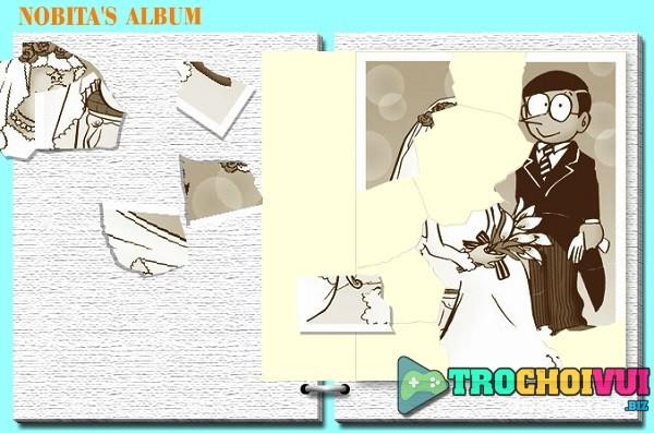 game doremon ghep hinh sinh nhat Nobita