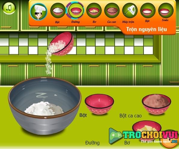 game Lam banh socola anh dao