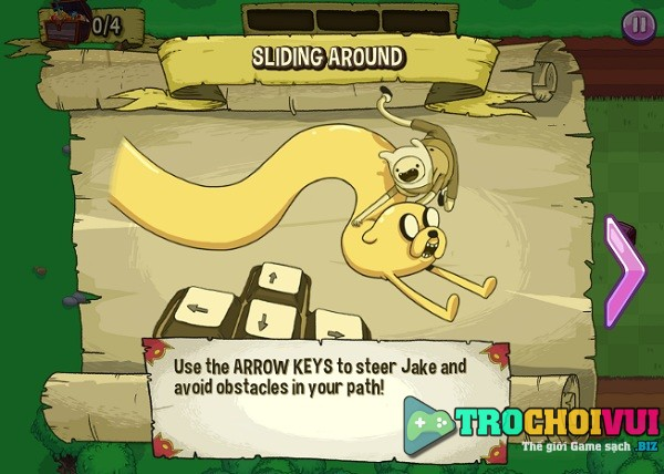 game Gio phieu luu tim kho bau adventure time apple fetch