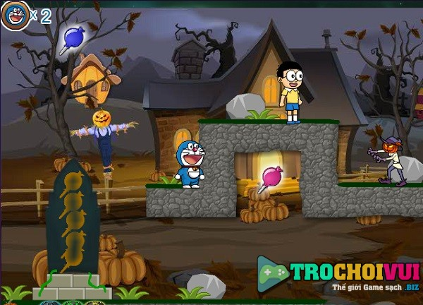 game Doremon va nobita bay halloween