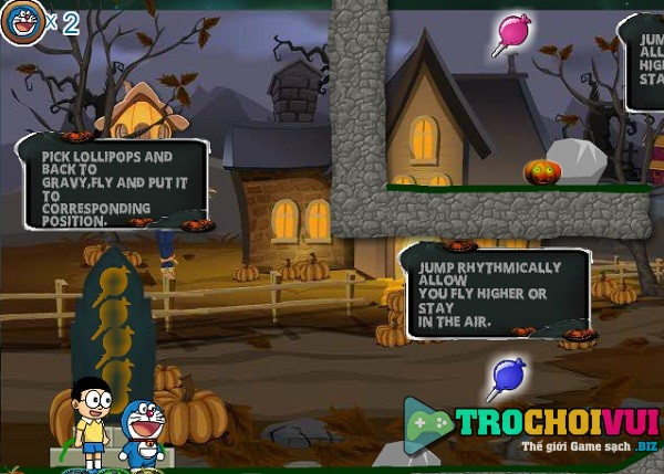 game Doremon va nobita phuu luu halloween