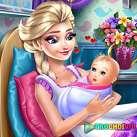 Elsa sinh con