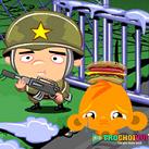Chú khỉ buồn căn cứ quân sự