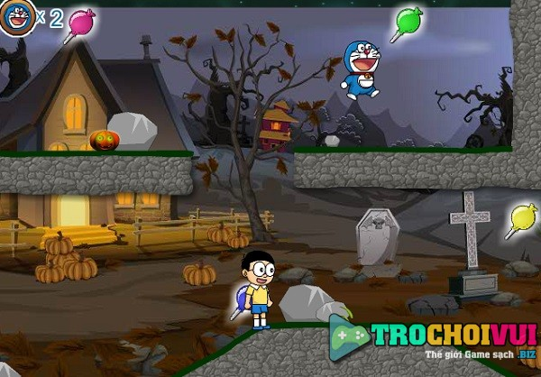 game Doremon va nobita halloween hinh anh