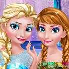 Elsa và Anna trang điểm