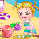 Em bé baby đi tắm biển