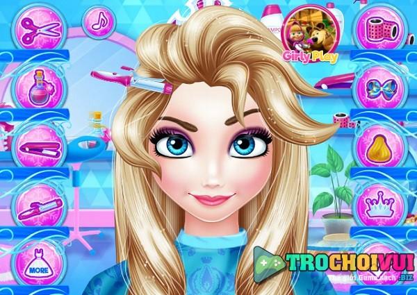 game Lam toc cho Elsa hinh anh