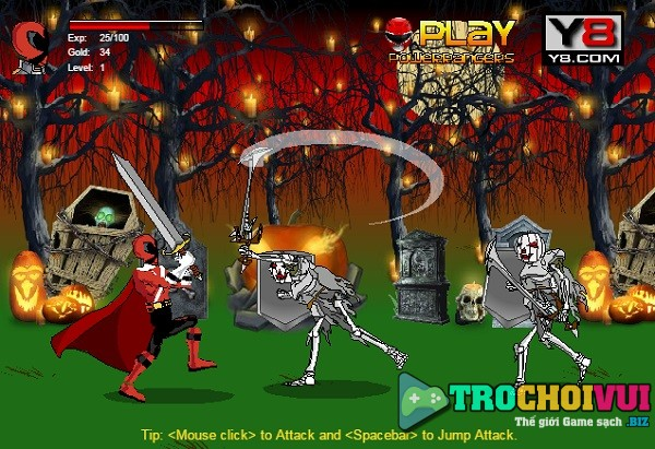 game Sieu nhan halloween hinh anh