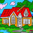 Tô màu ngôi nhà