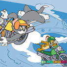 Tom và Jerry đua xe máy