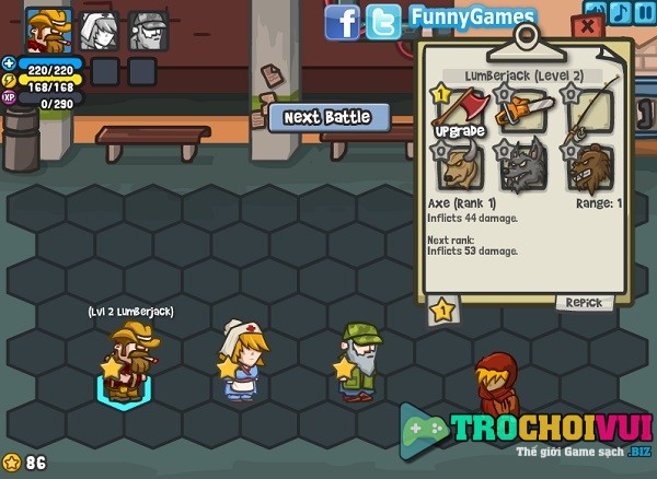 game Chien thuat ve zombie