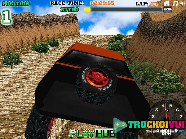 game Dua xe oto dia hinh 3D