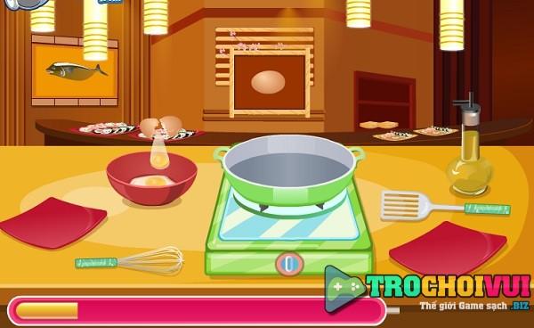 game Hoc lam sushi cuon