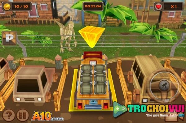 game Do xe oto tai cong vien khung long