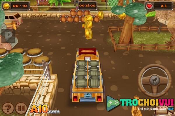 game Do xe trong cong vien khung long