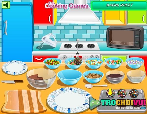 game Lam keo chocolate