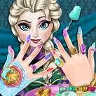 Làm móng tay cho Elsa