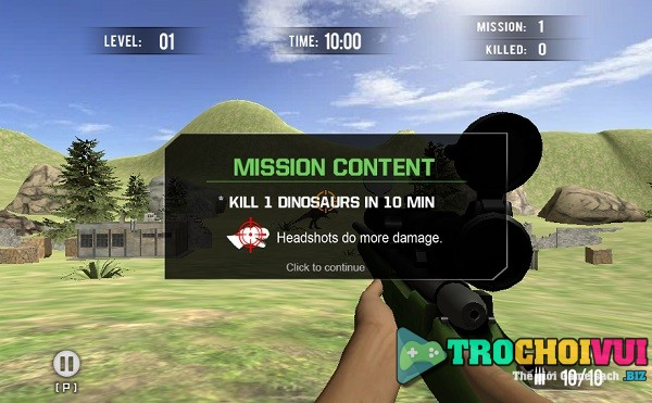 game Ngam ban khung long 3d