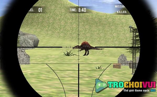 game Ngam ban khung long jurassic sniper