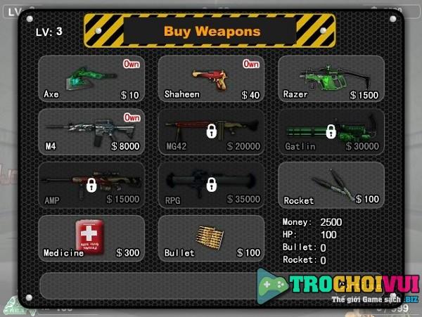 game Dot kich ban zombie online