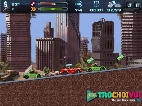game Dua xe robot bien hinh xe oto