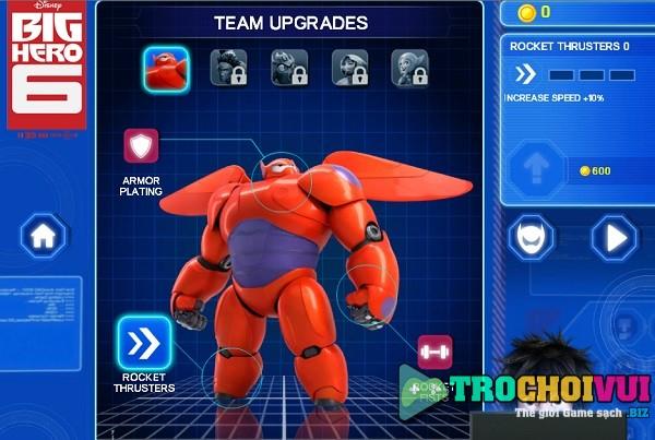 game Biet doi Big hero 6 baymax sky patrol