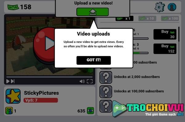 game Kiem tien youtube tube clicker