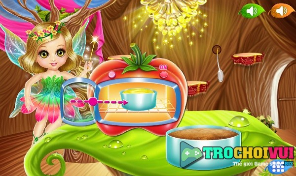 game Lam banh ngoi nha co tich Fantasy house design cake