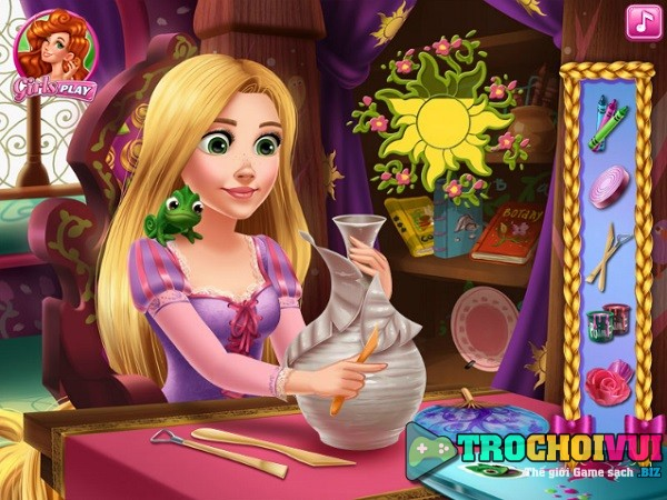 game Rapunzel lam do thu cong crafts