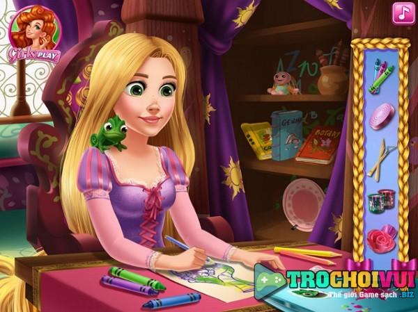game Rapunzel lam do thu cong kheo tay