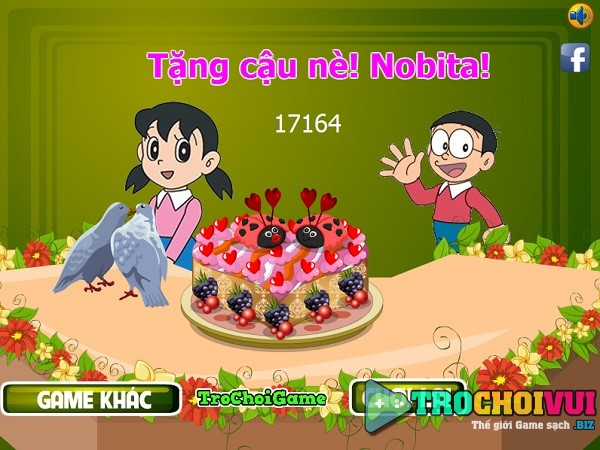 game Xuka nau an lam banh kem