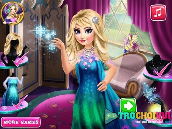 Choi game Elsa lam dep toan than