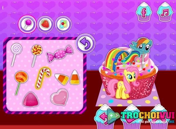 Choi game Lam banh cupcake Pony