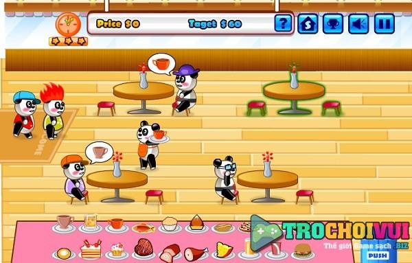 Choi game Nha hang gau truc