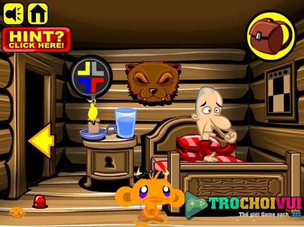 game Chu khi buon thoat khoi cabin escape