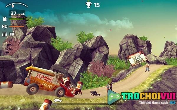 game Dua xe ban sung zombie