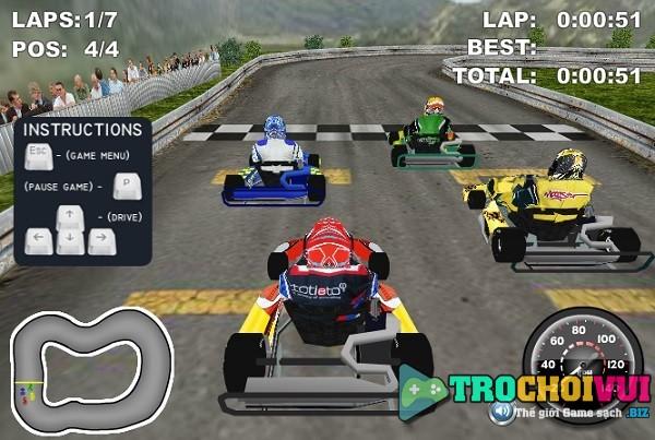 game Dua xe Kart 3D online