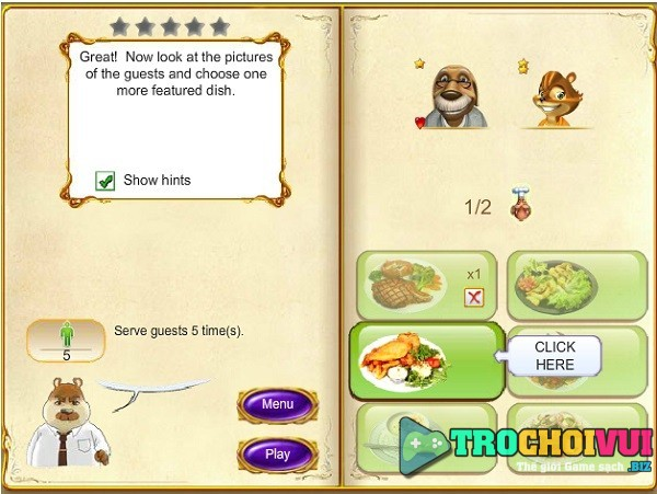 game Nha hang thien duong online