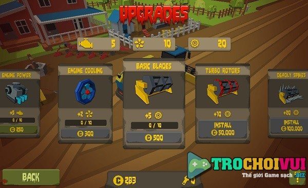 game Thu hoach zombie harvester rush