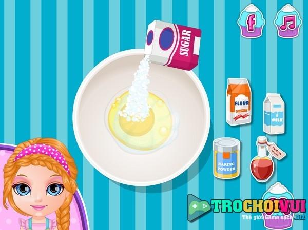 game nau an Lam banh cupcake Pony