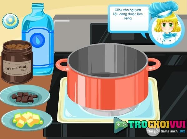 game tap Lam banh gato socola