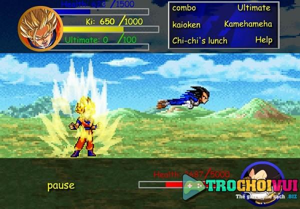 game 7 vien ngoc rong Goku vs Vegeta