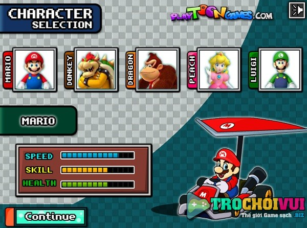 game Dua xe may moto bay Mario
