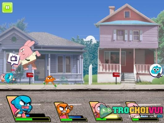 Game Gumball danh nhau vs darwin